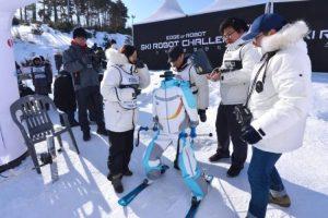 В Южной Корее завершились первые соревнования роботов-лыжников»