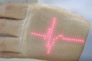 Японские учёные продемонстрировали электронную кожу с LED-индикацией»